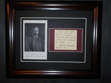 Theodore Roosevelt Signed 1911 Quote Honesty Courage Courtesy with Photo Framed