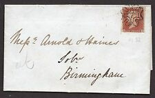 Entire with 1841 1d red cancelled by London No 7 in cross pmk ( M D )  30/9/1843