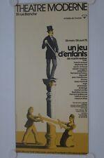 Affiche Théâtre UN JEU D'ENFANTS 1975 Martin Walser