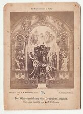 Kabinettfoto Gemälde Wislicenus Wiedererstehung Deutsches Reich um 1890 ! (F172