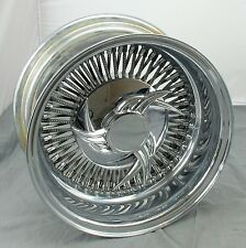 "Wicked Wires 80 Spoke 14"" Reverse Chrome Wheel w/ Center Cap - 4x108 mm / 4x4.5"""