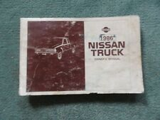 1986 Nissan Truck - OWNERS MANUAL