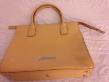 "Sac A Mains Cabals TAN ""CERRUTI 1881"" Leather Handbag"