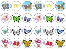 24 baby Butterfly kids  bun fairy cupcake toppers birthdays party edible paper
