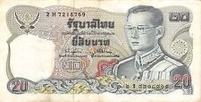 Thailand  20 Baht  ND. 1981  P 88  Series  2 H  Sign. # 74 Circulated Banknote