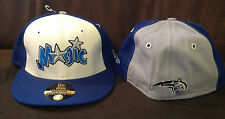 Orlando Magic New Era 59FIFTY Fitted Hat NBA Throwback Blue/White/Grey Sz 7 1/8