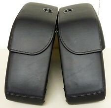 New Original Harley Davidson Sportster Saddle Bags Leather Covered w/lock & key
