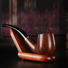 Durable Wooden Enchase Smoking Pipe Tobacco Cigarettes Cigar Pipes Gift