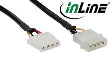 """InLine Strom Verlängerung, 13,34cm (5,25"""") 4pol Stecker / Buchse, rund, 50cm"""