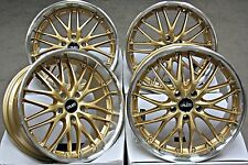 "19"" CRUIZE 190 ALLOY WHEELS GOLD & POLISHED DEEP DISH STAGGERED 19 INCH ALLOYS"