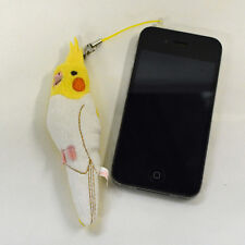 Cockatiel (Lutino) Plush: Earphone Jack Accessory Screen Cleaner