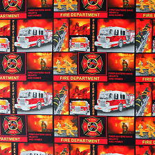 [Precut] 40x112cm Fire Fighter - Print Concepts Cotton Fabric - PC386