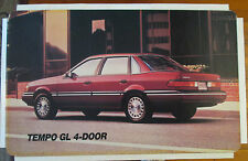 Ford Tempo GL 4-Door 1989 Dealer Showroom Promotional Photo/Poster