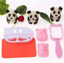 Homely DIY Maker Bento Tool Sushi Rice Ball Panda Mold Onigiri Mould Funny Food#