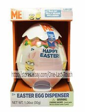 DESPICABLE ME Minion Made EASTER EGG DISPENSER w/Jelly Beans CANDY Exp. 10/16