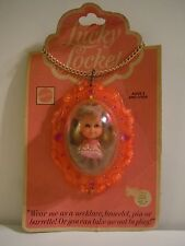 Vintage 1975 Mattel Liddle Kiddles Lucky Locket Lottie #3719 Mint On Card