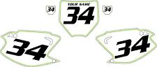 2003-2012 Kawasaki KX125 Custom Pre-Printed White Backgrounds Green Pinstripe