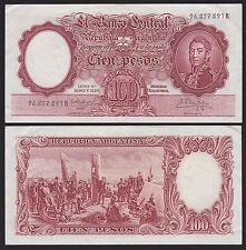 ARGENTINA P272c***100 PESOS***ND 1961***SERIAL B***VF***LOOK SUPER SCAN