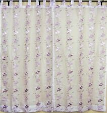 Embroidered Curtains Handmade Ethnic India 2 Mauve Window Door Coverings Panels