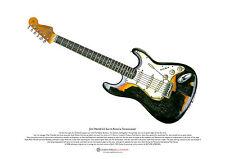 Jimi Hendrix'S ASTORIA Stratocaster ART POSTER FORMATO a3