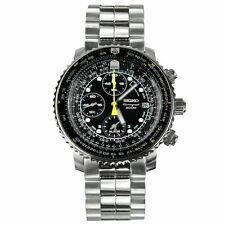 Seiko Analog Sport Mens Chronograph Silver JAPAN Watch SNA411P1