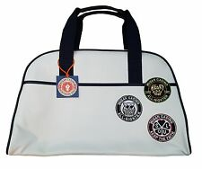 MENS WIGAN CASINO RETRO MOD LARGE BOWLING BAG WC 2096 - CREAM / ECRU