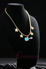 SUPER SONICO THE ANIMATION Guitar Pendant Necklace Gold plating Cos Daily Prop