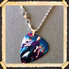 "R5 BAND-ROSS LYNCH Guitar Pick WITH 16.5"" SILVER PLATED SNAKE NECKLACE/#1"