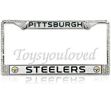 PITTSBURGH STEELERS NFL Bling License Plate Frame Made With Swarovski Crystal