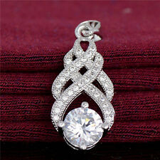 Wholesale Jewelry Gift 18K White Gold Filled Cubic Zirconia Exquisite Pendant