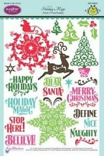 JUSTRITE CLEAR Stamps HOLIDAY MAGIC SW-04610 Happy Holidays Dear Santa Christmas