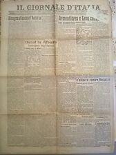 IL GIORNALE D'ITALIA OTTOBRE 1918 BERAT IN ALBANIA RIOCCUPATA DAGLI ITALIANI 682