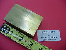 "1"" x 2"" C360 BRASS FLAT BAR 3"" long Solid 1.00"" Plate Mill Stock H02"