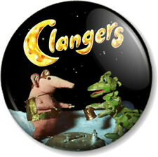 "The Clangers & Soup Dragon 1"" 25mm Pin Button Badge Retro Kids TV animation Cool"
