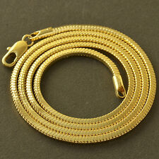 "20"" 9K Yellow Gold Filled Snake Mens Womens Long Chain Necklace korean jewelry"