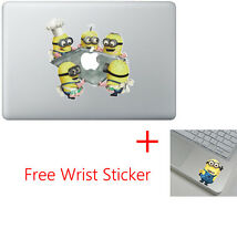 Despicable Minion Me Apple Macbook Air Pro 13 15 Vinyl Skin Decal Cover + Minion
