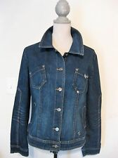 Baby Phat Stretch Denim Jean Jacket Juniors Size L Blue