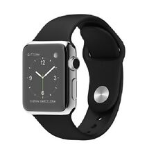NEW APPLE SMART WATCH 38mm Stainless Steel Black Sport MJ2Y2LL/A Retina+ Earbuds