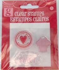 NEW STUDIO G CLEAR STAMP I THINK YOURE SWEET BE MY VALENTINE CUP CAKE VC0037 190
