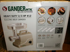 Gander Mountain #12 Heavy-Duty Electric Meat Grinder 2/3 HORSEPOWER HP