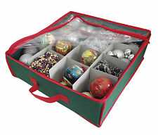 Christmas Corner Xmas Bauble Decoration Storage Bag 16 Compartments 38x38x13cm