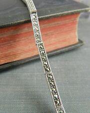 925A Sterling Silver & Marcasite Link Bracelet
