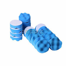 12x 3inch Blue Waffle Foam Cut Buff&Polishing Pad Car Polishing&Air Orbit Sander