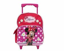 """Disney Minnie Mouse Small Girls 12"""" Rolling Toddler School Backpack"""