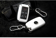 White Discovery 4 Remote FOB Key Cover Bag Housing Fit For Land Rover