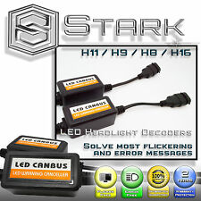 PAIR LED Headlight Canbus Error Free Anti Flickering Resistor Decoder H11 H8 H9