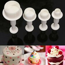 4x Mini Round Circle Cookie Cake Cutter Mold Biscuit Fondant Sugar Craft Decor*