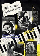 Junge Deutsche Pianistinnen XL Fotobericht von 1941 Walterspiel Sander Gigler