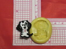 Dalmatian Puppy Dog Silicone Push Mold A53 Fondant Resin Clay Candy Chocolate