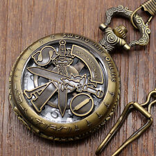 Fashion Anime Hollow Sword Art Online Retro Quartz Pocket Watch Mens Boys Gifts